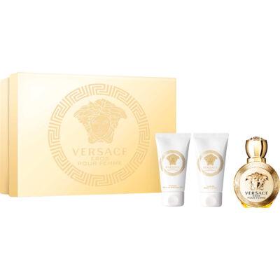 Versace Eros EDP 5ml + Testápoló 25ml + Tusfürdõ 25ml Női Parfüm Ajándékcsomag