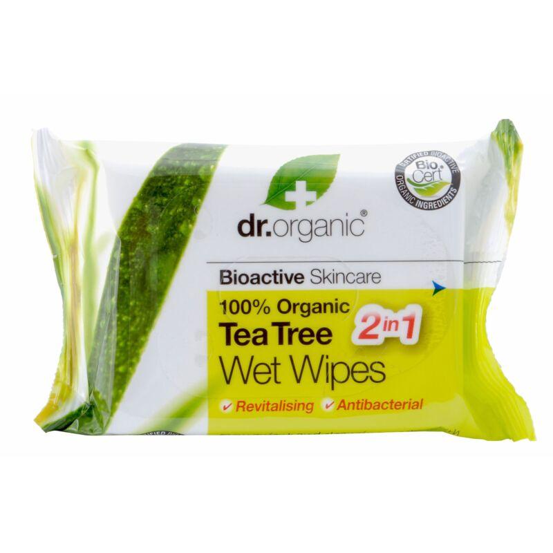 Dr. Organic Bio Teafa Nedves Törlõkendõ 20db